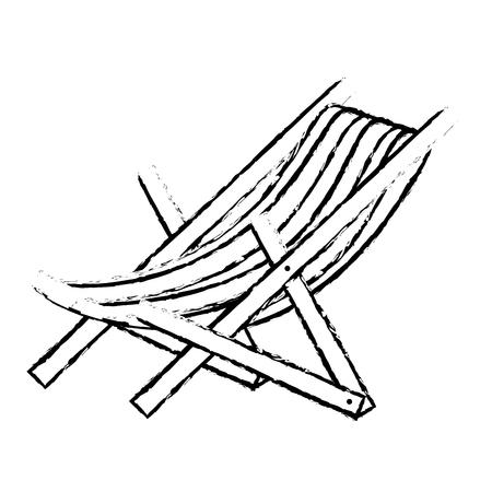 Strandstoel geïsoleerde pictogram vectorillustratieontwerp Stockfoto - 79266992