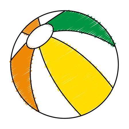 inflatable ball: balloon beach isolated icon vector illustration design
