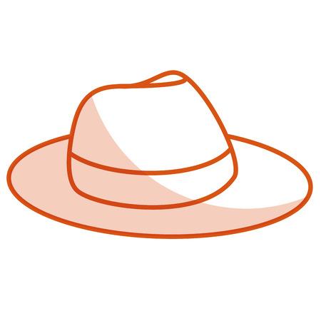 Männlichen touristischen Hut Symbol Vektor-Illustration Design