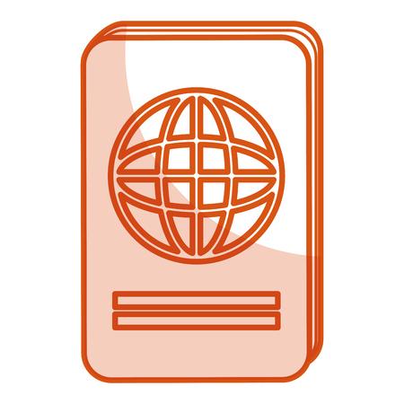 documentation: passport document isolated icon vector illustration design