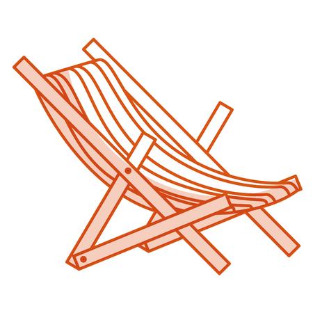 Strandstoel geïsoleerde pictogram vectorillustratieontwerp Stockfoto - 79267469