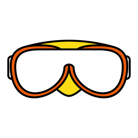 swimming goggles isolated icon vector illustration design