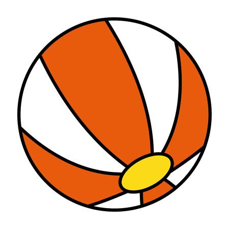 balloon beach isolated icon vector illustration design