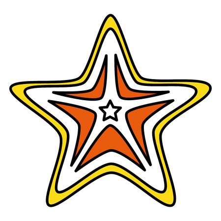 starfish summer isolated icon vector illustration design Illustration