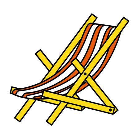 beach chair isolated icon vector illustration design Stock fotó - 79267298