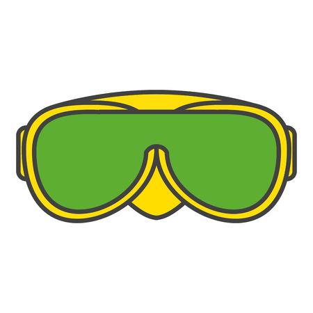 swimming glasses: swimming goggles isolated icon vector illustration design