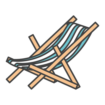strandstoel geïsoleerde pictogram vectorillustratieontwerp