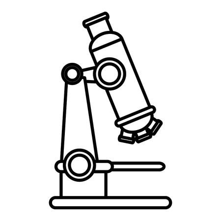 microscope laboratory isolated icon vector illustration design Illustration