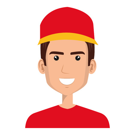 Courier worker avatar character vector illustration design Foto de archivo - 79267453