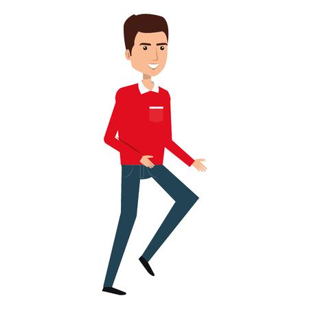 Courier worker avatar character vector illustration design Foto de archivo - 79267491