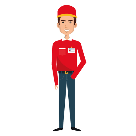 Courier worker avatar character vector illustration design Foto de archivo - 79267760