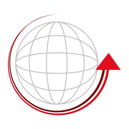 ベクトル イラスト デザインの周りの矢印と球します。  イラスト・ベクター素材