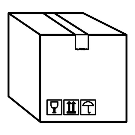 ボックス箱分離アイコン ベクトル イラスト デザイン