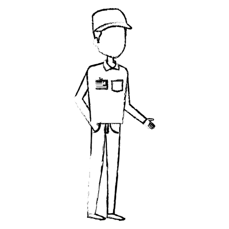 Courier worker avatar character vector illustration design Foto de archivo - 79267677