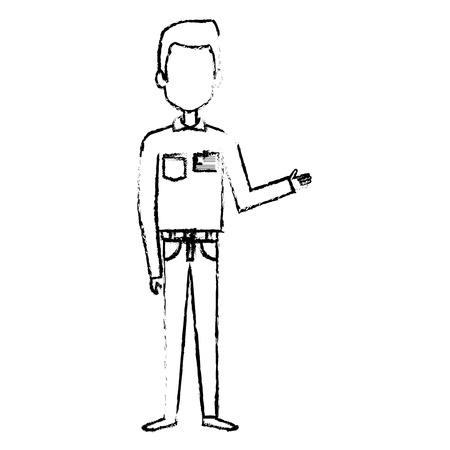 Courier worker avatar character vector illustration design Foto de archivo - 79267799