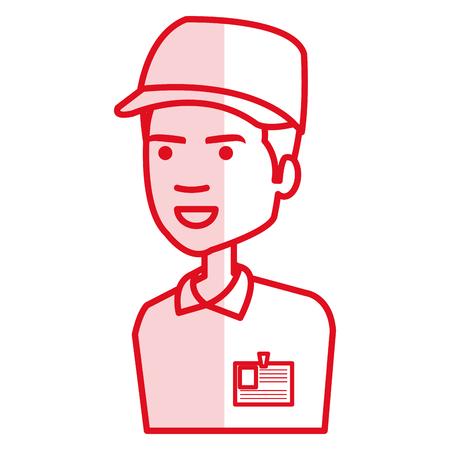 Courier worker avatar character vector illustration design Foto de archivo - 79268042