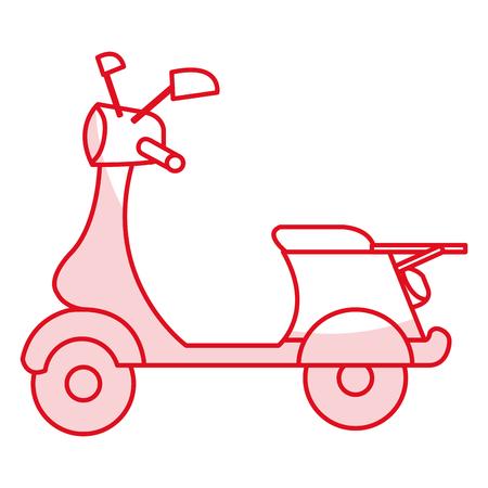 scooter motocicleta aislado icono vector ilustración diseño Vectores
