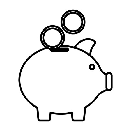 piggy savings isolated icon vector illustration design Illustration