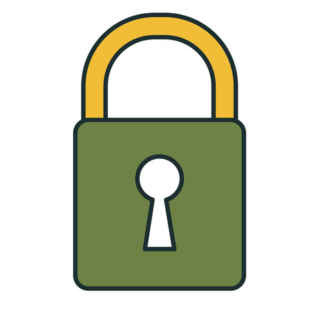 safe padlock isolated icon vector illustration design Stock Vector - 79269128