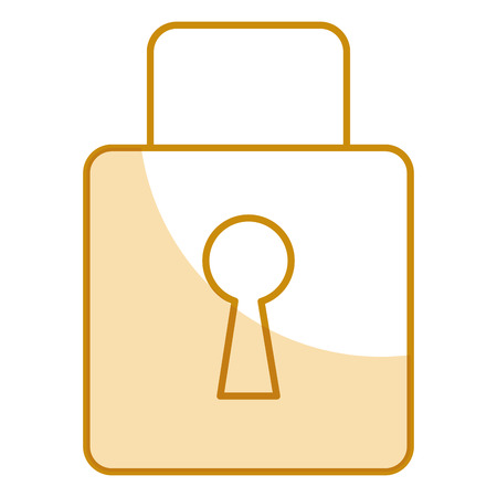safe padlock isolated icon vector illustration design Stock Vector - 79268472