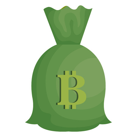 money bag with bitcoin symbol vector illustration design Illustration