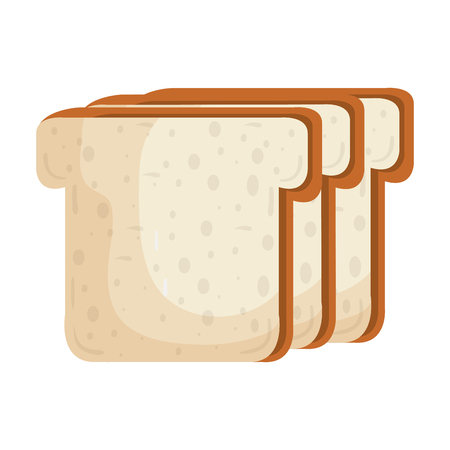 toasted: delicious slices bread isolated icon vector illustration design Illustration
