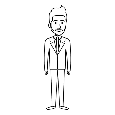 Elegante hombre de negocios avatar carácter ilustración vectorial diseño Foto de archivo - 79278546