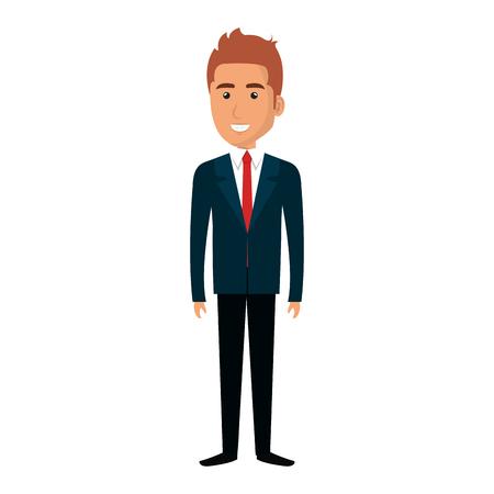 Elegant zakenmanavatar ontwerp van de karakter het vectorillustratie Stockfoto - 79268875
