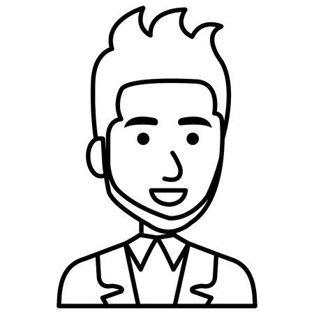 Elegant zakenmanavatar ontwerp van de karakter het vectorillustratie Stockfoto - 79278608