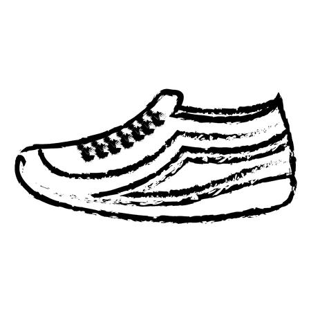 tennis shoe isolated icon vector illustration design