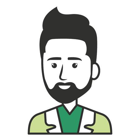 Elegante hombre de negocios avatar carácter ilustración vectorial diseño Foto de archivo - 79307066