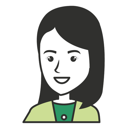 trouser: elegant businesswoman avatar character vector illustration design Illustration