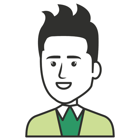 Elegante hombre de negocios avatar carácter ilustración vectorial diseño Foto de archivo - 79307072