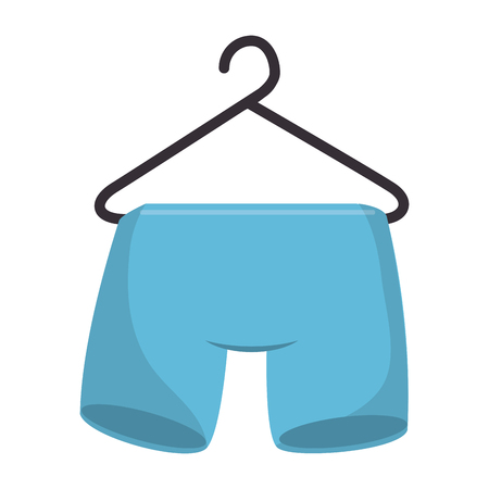 shorts hanging in the laundry vector illustration design