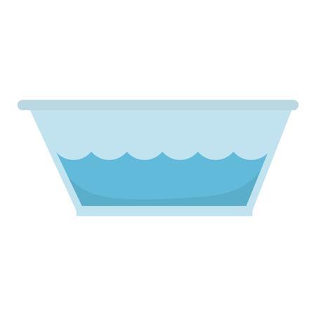 Tank voor het weken in de wasserij vectorillustratie ontwerp Stock Illustratie