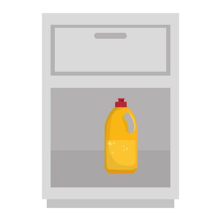 Laundry shelf with bottle isolated icon vector illustration design Illustration