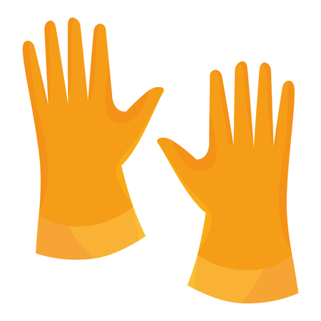 laundry gloves isolated icon vector illustration design