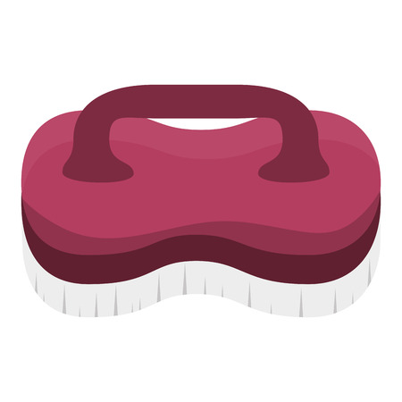 Laundry brush isolated icon vector illustration design