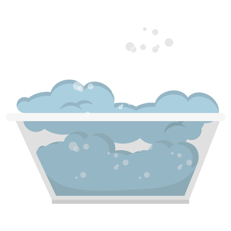 laundry care symbol: Tank for soaking in laundry vector illustration design Stock Photo
