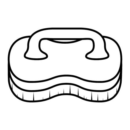 세탁 브러쉬 격리 된 아이콘 벡터 일러스트 레이 션 디자인