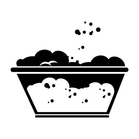 Tank voor het weken in de wasserij vectorillustratie ontwerp Stockfoto - 79307174
