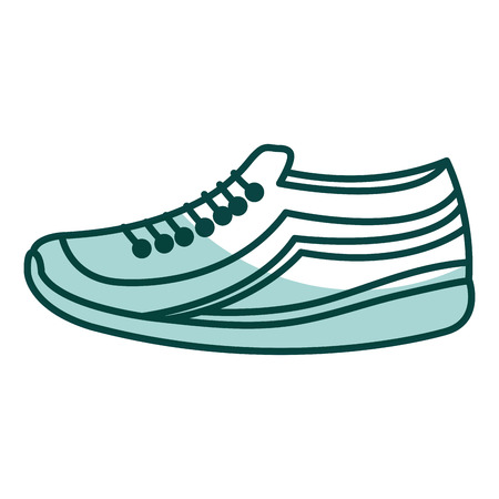 tennis shoe isolated icon vector illustration design Stok Fotoğraf - 79307958