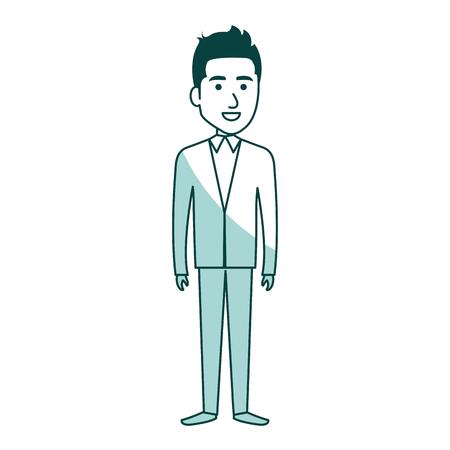 Elegante hombre de negocios avatar carácter ilustración vectorial diseño Foto de archivo - 79307967