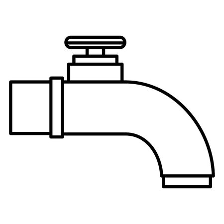water tap isolated icon vector illustration design