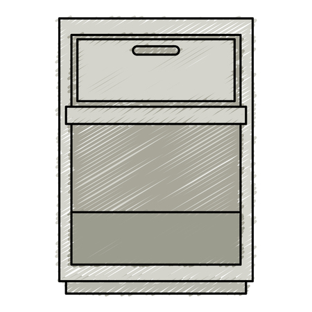 drawer house isolated icon vector illustration design
