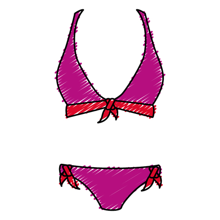 bikiny hanging in the laundry vector illustration design