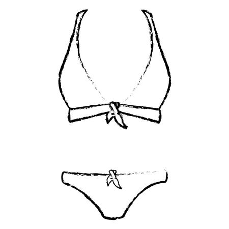bikiny hanging in the laundry vector illustration design