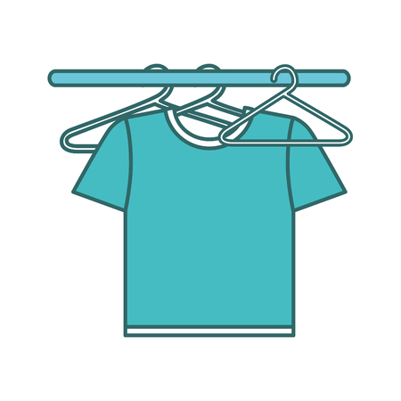 shirts hanging in the laundry vector illustration design