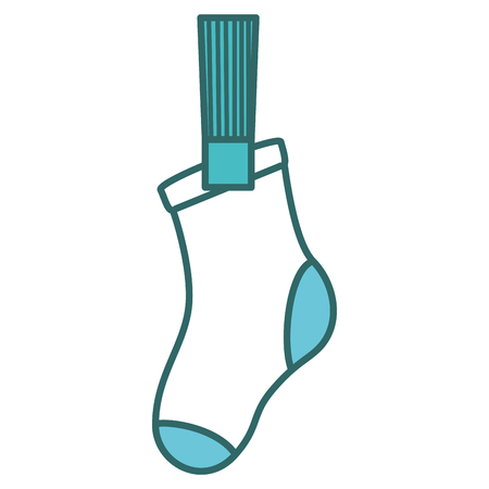 washstand: socks hanging in the laundry vector illustration design