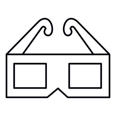 glasses 3d cinema icon vector illustration design Illustration